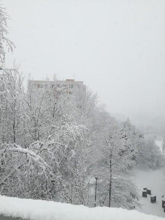 Zlínsko zasypal sníh, foto od čtenáře Deníku