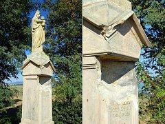 Socha Panny Marie mezi Machovou a Mysločovicemi projde důkladnou opravou.