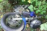 Tragická havárie motorkáře ve Všemině