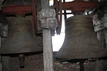 Zvony zlínského kostela svatého Filipa a Jakuba.