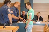 Obžalovaný pětatřicetiletý Michal S. u krajského soudu ve Zlíně