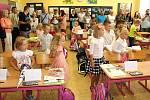 První září v 1. B otrokovické Základní školy T. G. Masaryka.