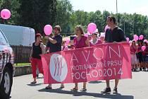 Avon pochod proti rakovině prsu v Luhačovicích.
