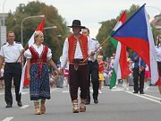 Mezinárodní festival dechových souborů FEDO 2012 ve Zlíně. Na snímku DO WOLSZTYN z Polska s mažoretkami.