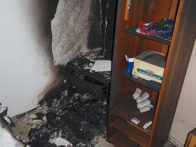 Požár ve slušovickém bytě, 30. října 2010
