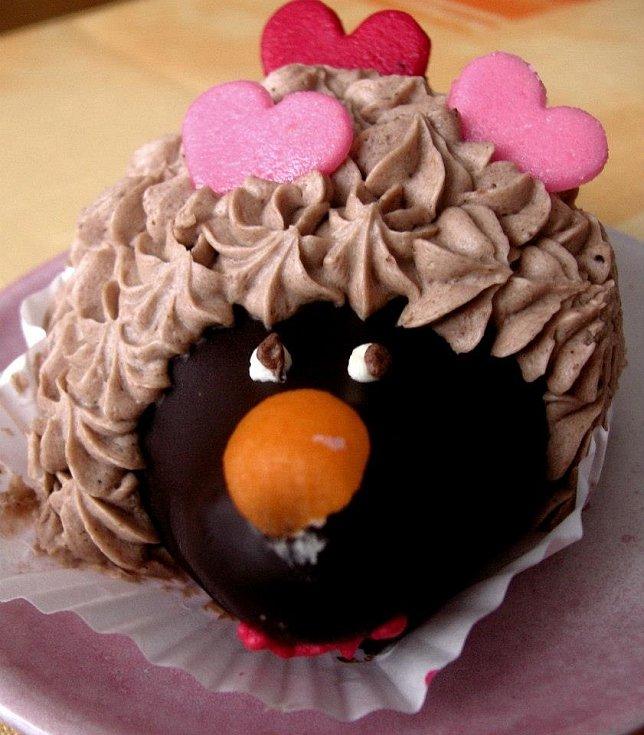 Valentýnský ježek od mamky byl výborný.