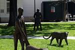 Putovní výstava, která je tvořena sousoším Strážci/hráči, kteří jsou doprovázeni smečkou sedmi zvířat, poutá aktuálně pozornost obyvatel Zlína vparku Komenského. Soubor bronzových plastik akademického sochaře Michala Gabriela bude na místě kvidění až do
