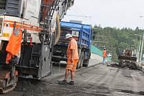 Oprava Čepkovského mostu ve Zlíně.