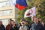 Strana svobodných pořádala demostraci proti evropské imigrační politice na náměstí Míru ve Zlíně..