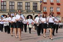 Ve Zlíně probíhá populární Festival dechových hudeb, kterého se účastní také folklorní soubory.