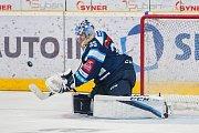 Utkání 42. kola Tipsport extraligy ledního hokeje se odehrálo 21. ledna v liberecké Home Credit areně. Utkaly se celky Bílí Tygři Liberec a Aukro Berani Zlín. Na snímku je branákř Roman Will.