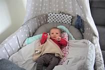 Maminka prvního novorozence letošního roku ve Zlíně Petra Žůrková převzala od města pro dcerku Elu hračky a také poukázku na finanční dar ve výši pět tisíc korun.