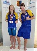 Mladí zlínští plavci Anna Andrlová a Petr Urbánek v prostějovském bazénu získali titul zimního mistra České republiky.