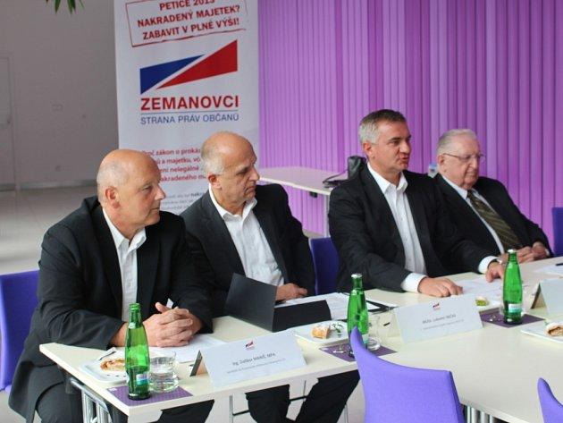 V pondělí představili Zlínští zemanovci kandidátku a program pro Zlínský kraj