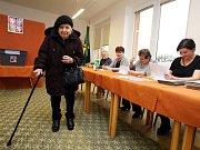 Prezidentské volby 2018. 102 let Františka Gottfriedová obecní úřad Petrůvka