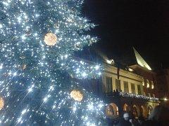Ve Zlíně rozsvítili vánoční strom