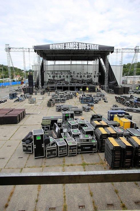 Masters of rock 2019. Stavba pódia a další přípravy