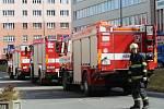 Požár bytu v ulici Potoky 4314 ve Zlíně.