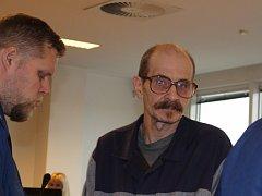 Obžalovaný Libor Vaďura u krajského soudu ve Zlíně