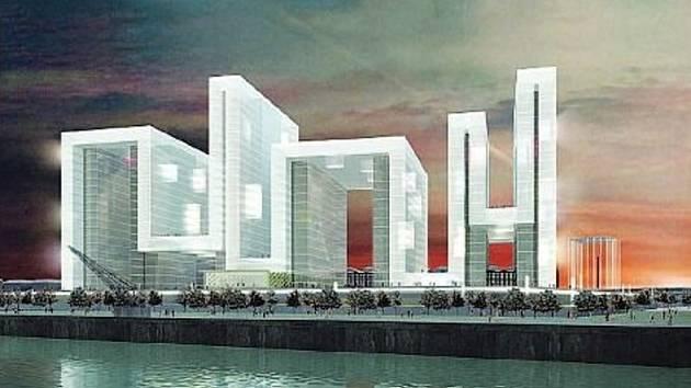 NÁVRH. Evropská centrální banka je jedním z osmadvaceti návrhů ve zlínské galerii