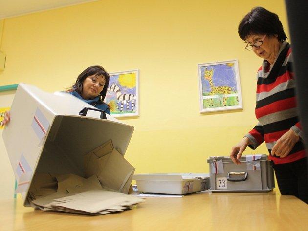 Referendum o hazardu ve Zlíně. Sčítání hlasů.