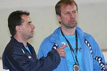 Rostislav Vlach (vpravo) a Josef Turek na tréninku
