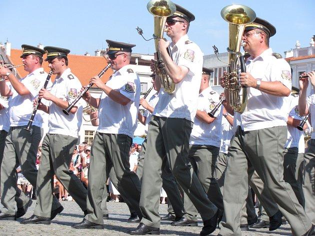 Vojenská dechová hudba. Ilustrační foto.