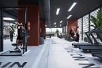 Horní patra budovy FABRIKA by mohla nabídnout tři sportovní haly vhodné například pro volejbal, basketbal, házenou či florbal. Vplánech je také kluziště.