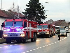 Požár v hale firmy Metalšrot v Tlumačově.