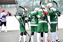 zápas 1. hokejbalové ligy Malenovice-SK Jihlava