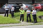 Krajské kolo soutěže dopravních policistů v řízení silničního provozu ve Zlíně .