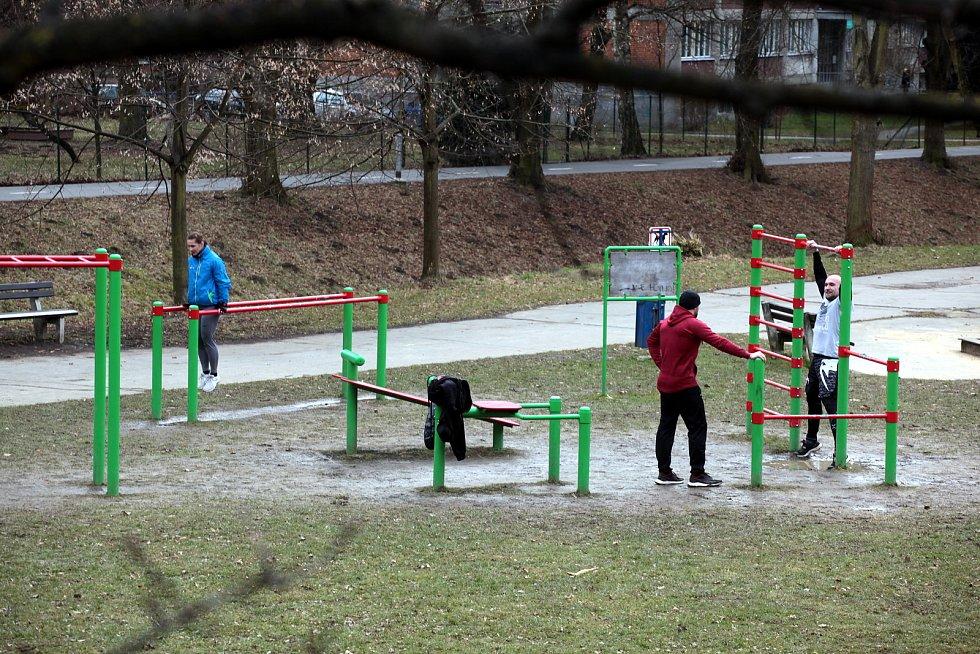Workoutová hřiště ve Zlíně, březen 2021