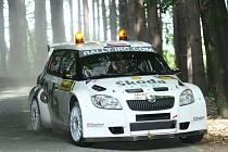 Barum rally - RZ na Pindule: Jan Kopecký s novou Fabií S2000
