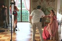 Natáčení historického filmu ze života francouzského romantika Françoise Auguste René de Chateaubrianda v prostorách vizovického zámku.