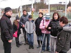 Nevidomé děti trénovaly cestování autobusem městské hromadné dopravy ve Zlíně.