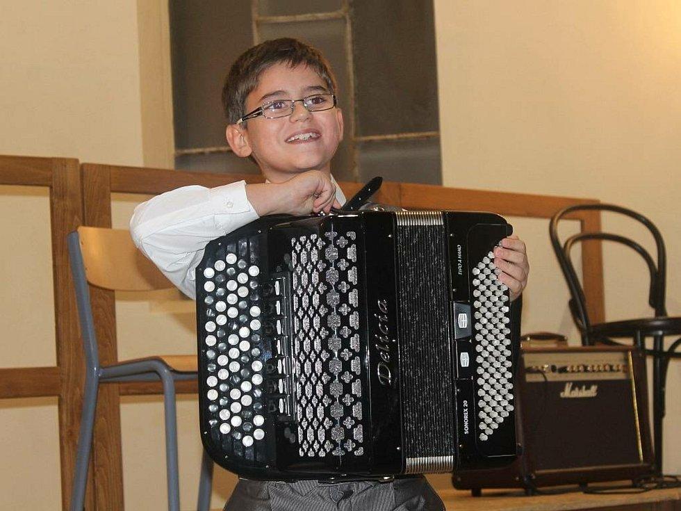 Martin Kot, talentovaný akordeonista z Napajedel
