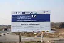 Stavba rychlostní silnice z Hulína do Otrokovic se zahajuje v březnu 2009.