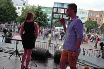 Bohemia Jazz Fest 2014 na náměstí ve Zlíně.