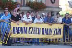 Barum rally 2015 start na náměstí Míru ve Zlíně.