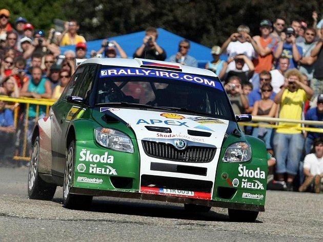 V rámci Barum Czech Rally Zlín závodníci v neděli odjeli 12. rychlostní zkouškuv Pohořelicích. o bojů se zapojil také posádka s číslem 10 Jan Kopecký – Petr Starý.