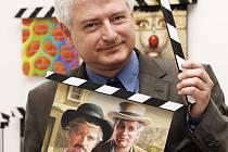 Tisková konference k 49. Mezinárodnímu festivalu filmů pro děti a mládež. Umělecký ředitel festivalu Petr Koliha.