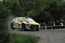 Páteční odpoledne patřilo na úseku mezi Neubuzí a Slušovicemi testovací rychlostní zkoušce, shakedownu v rámci 26. ročníku populární Rallysprint Kopná.