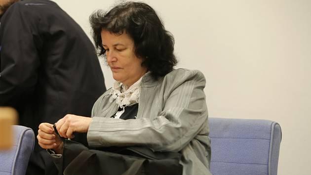Dana Barnášová  u soudu ve Zlíně.