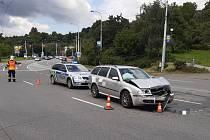 Nehoda na ulici Gahurova ve Zlíně