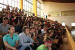 Slavnostní zahájení školního roku ve Střední průmyslové škole Otrokovice, a to dne 2. září 2019.