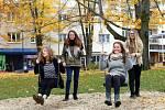 Děti v parku Komenského ve Zlíně.
