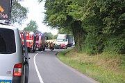 Střet dvou vozidel u Hvozdné si ve vyžádal pět zraněných.