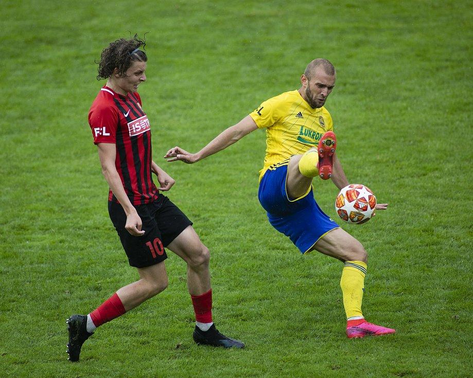 Zlín - Zápas skupiny o záchranu FORTUNA:LIGY mezi FC Fastav Zlín a SFC Opava. Filip Souček (SFC Opava).