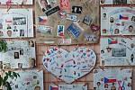 Práce žáků jsou vystaveny v prostorách školy