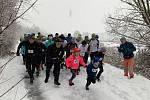Běh na 2 míle ve Zlíně, leden 2019